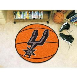 "Click here to learn more about the San Antonio Spurs Basketball Mat 27"" diameter."