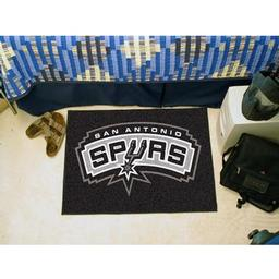 "Click here to learn more about the San Antonio Spurs Starter Rug 19"" x 30""."