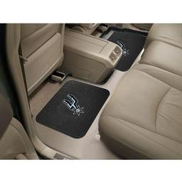 "Click here to learn more about the San Antonio Spurs Backseat Utility Mats 2 Pack 14""x17""."