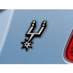 "Click here to learn more about the San Antonio Spurs Emblem 2.5""x3.2""."
