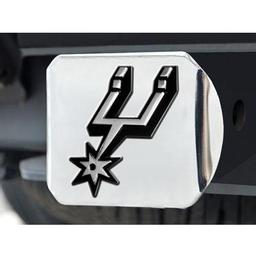 "Click here to learn more about the San Antonio Spurs Hitch Cover 4 1/2""x3 3/8""."