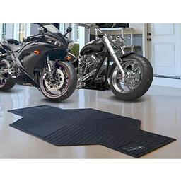 "Click here to learn more about the San Antonio Spurs Motorcycle Mat 82.5"" L x 42"" W."