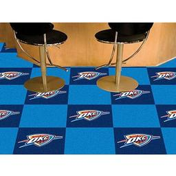 "Click here to learn more about the Oklahoma City Thunder Carpet Tiles 18""x18"" tiles."