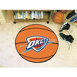 "Click here to learn more about the Oklahoma City Thunder Basketball Mat 27"" diameter."