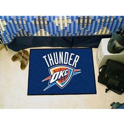 "Click here to learn more about the Oklahoma City Thunder Starter Rug 19"" x 30""."