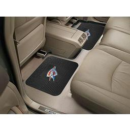 "Click here to learn more about the Oklahoma City Thunder Backseat Utility Mats 2 Pack 14""x17""."
