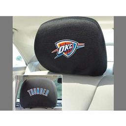 "Click here to learn more about the Oklahoma City Thunder Head Rest Cover 10""x13""."