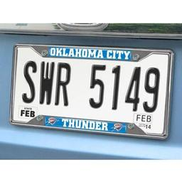 "Click here to learn more about the Oklahoma City Thunder License Plate Frame 6.25""x12.25""."