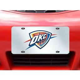 "Click here to learn more about the Oklahoma City Thunder License Plate Inlaid 6""x12""."