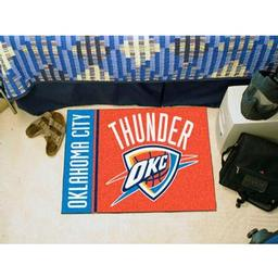 "Click here to learn more about the Oklahoma City Thunder Uniform Inspired Starter Rug 19""x30""."