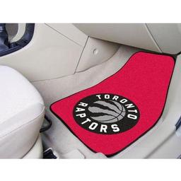 "Click here to learn more about the Toronto Raptors 2-piece Carpeted Car Mats 17""x27""."
