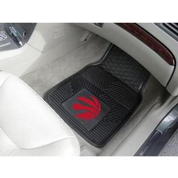 "Click here to learn more about the Toronto Raptors Heavy Duty 2-Piece Vinyl Car Mats 17""x27""."