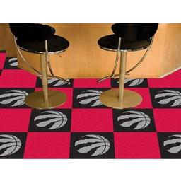 "Click here to learn more about the Toronto Raptors Carpet Tiles 18""x18"" tiles."