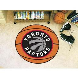 "Click here to learn more about the Toronto Raptors Basketball Mat 27"" diameter."