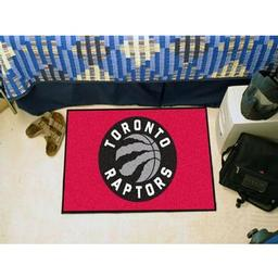 "Click here to learn more about the Toronto Raptors Starter Rug 19"" x 30""."