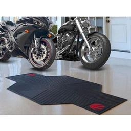 "Click here to learn more about the Toronto Raptors Motorcycle Mat 82.5"" L x 42"" W."
