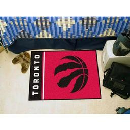 "Click here to learn more about the Toronto Raptors Uniform Inspired Starter Rug 19""x30""."