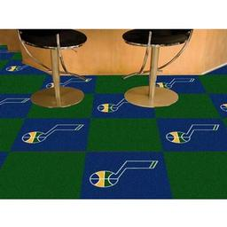 "Click here to learn more about the Utah Jazz Carpet Tiles 18""x18"" tiles."