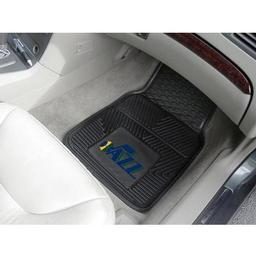 "Click here to learn more about the Utah Jazz Heavy Duty 2-Piece Vinyl Car Mats 17""x27""."