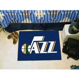 "Click here to learn more about the Utah Jazz Starter Rug 19"" x 30""."