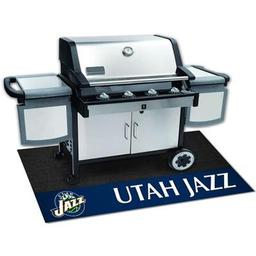 "Click here to learn more about the Utah Jazz Grill Mat 26""x42""."