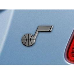 "Click here to learn more about the Utah Jazz Emblem 2""x3.2""."