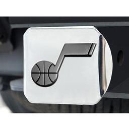 "Click here to learn more about the Utah Jazz Hitch Cover 4 1/2""x3 3/8""."