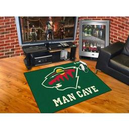 "Click here to learn more about the Minnesota Wild Man Cave All-Star Mat 33.75""x42.5""."