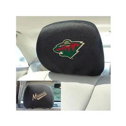 "Click here to learn more about the Minnesota Wild Head Rest Cover 10""x13""."