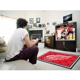 Click here to learn more about the Detroit Red WingsRug 4''x6''.