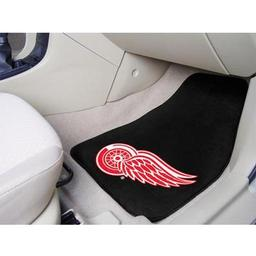 "Click here to learn more about the Detroit Red Wings 2-pc Printed Carpet Car Mats 17""x27""."