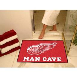 "Click here to learn more about the Detroit Red Wings Man Cave All-Star Mat 33.75""x42.5""."