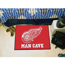 "Click here to learn more about the Detroit Red Wings Man Cave Starter Rug 19""x30""."