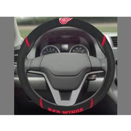 "Click here to learn more about the Detroit Red Wings Steering Wheel Cover 15""x15""."