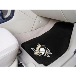 "Click here to learn more about the Pittsburgh Penguins 2-pc Printed Carpet Car Mats 17""x27""."