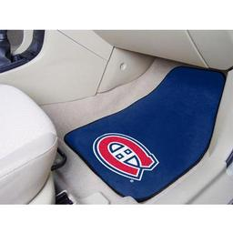 "Click here to learn more about the Montreal Canadiens 2-pc Printed Carpet Car Mats 17""x27""."