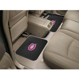 "Click here to learn more about the Montreal Canadiens Backseat Utility Mats 2 Pack 14""x17""."