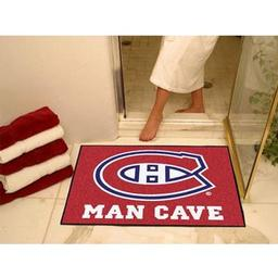 "Click here to learn more about the Montreal Canadiens Man Cave All-Star Mat 33.75""x42.5""."