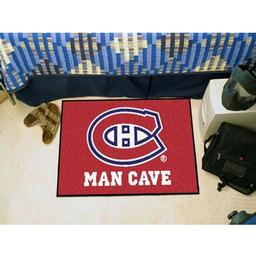 "Click here to learn more about the Montreal Canadiens Man Cave Starter Rug 19""x30""."
