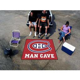 Click here to learn more about the Montreal Canadiens Man Cave Tailgater Rug 5''x6''.