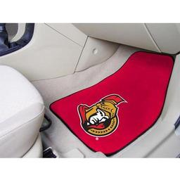 "Click here to learn more about the Ottawa Senators 2-pc Printed Carpet Car Mats 17""x27""."