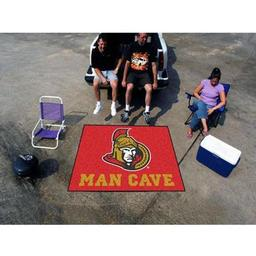 Click here to learn more about the Ottawa Senators Man Cave Tailgater Rug 5''x6''.