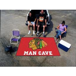 Click here to learn more about the Chicago Blackhawks Man Cave UltiMat Rug 5''x8''.