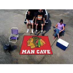 Click here to learn more about the Chicago Blackhawks Man Cave Tailgater Rug 5''x6''.