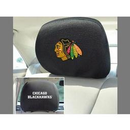 "Click here to learn more about the Chicago Blackhawks Head Rest Cover 10""x13""."