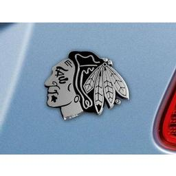 "Click here to learn more about the Chicago Blackhawks Emblem 2.7""x3.2""."