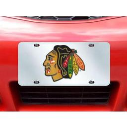 "Click here to learn more about the Chicago Blackhawks License Plate Inlaid 6""x12""."