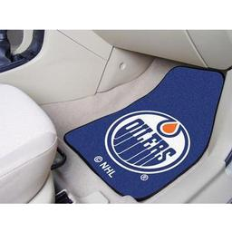 "Click here to learn more about the Edmonton Oilers 2-pc Printed Carpet Car Mats 17""x27""."