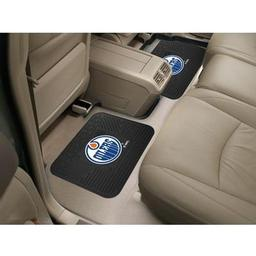 "Click here to learn more about the Edmonton Oilers Backseat Utility Mats 2 Pack 14""x17""."