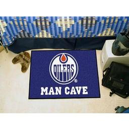 "Click here to learn more about the Edmonton Oilers Man Cave Starter Rug 19""x30""."